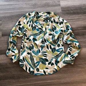 Banana Republic Floral Blouse Top XS